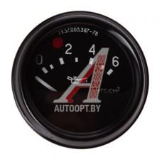 Указатель давления ГАЗ-3307,УАЗ,ЗИЛ (от 0 до 6кг/см2) АВТОПРИБОР