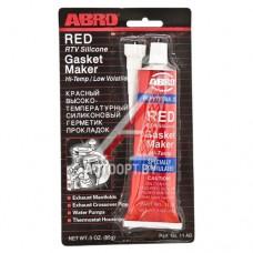 Герметик красный силиконовый высокотемпературный 85г ABRO — ABRO A11R-CH-R-S