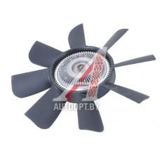 Вентилятор УАЗ-3163 (черный пласт.) в СБ с гидромуфтой  3160-1308009